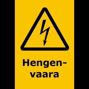 Hengenvaara-kyltti